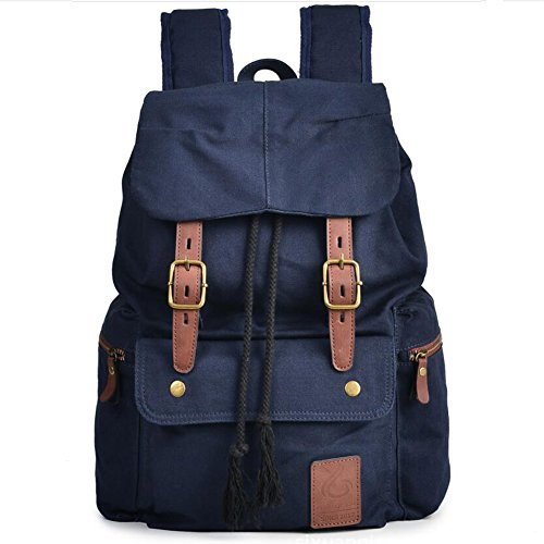 Mens Backpack Canvas Bookbag backpacks Casual Large Space Cotton bag Outdoor Sports backpack Climbing Hiking Backpack Shoulder Strap Bag Fashion Backpack (Color : 2) by YaXuan (Image #3)