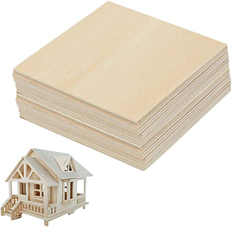10 Cabin House Unfinished Plain Wood Shapes Craft Supply Laser Cut Outs DIY