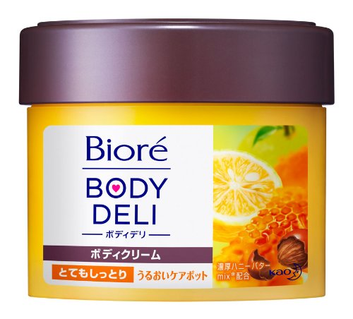 Kao Biore BODY DELI | Body Cream | Richness Body Butter Honey & Yuzu 220g