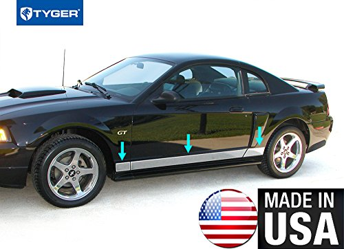 Made In USA!! TYGER Fits 94-04 Ford Mustang 2 Door Between Wheel Rocker Panel Trim 4-5 1/4