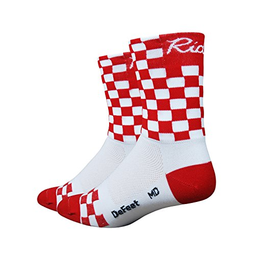 DeFeet Aireator Checkmate Socks, Red/White, Large