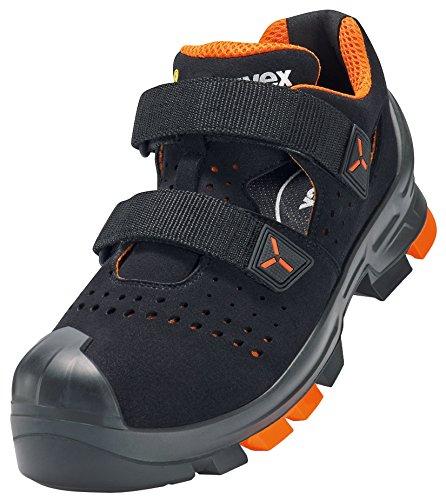 UVEX Sicherheitssandale 6500 UVEX 2 S1 P SRC universeller Arbeitsschuh Farbe: Schwarz Gr. 45