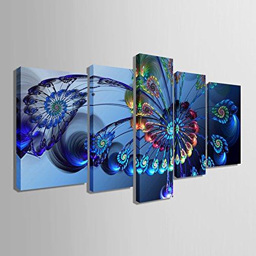 Canvas Art Design - Peacock Feather Canvas Print Wall Art Home Decor Modern Office Decoration