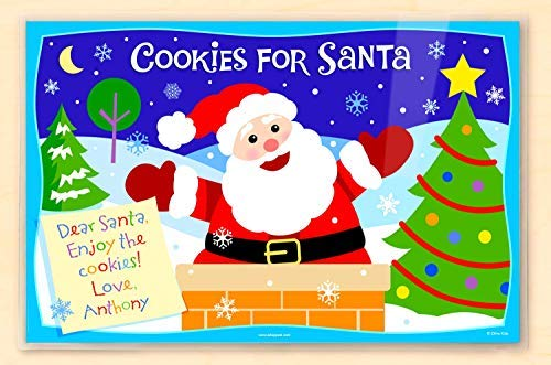 Placemats Christmas Personalized (Olive Kids Personalized Christmas Santa Cookies Kids Placemat by Olive Kids)