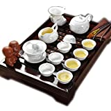 ufengkeBest Chinese People Ceramic Kung Fu Tea Set Tea Cups Tea Service With Wooden Tea Tray