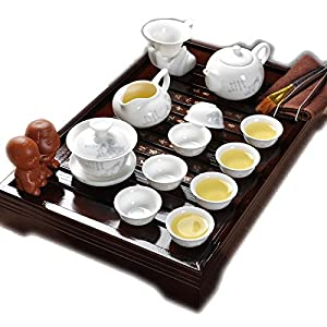 ufengkeBest Chinese People Ceramic Kung Fu Tea Set Tea Service With Tea Tray