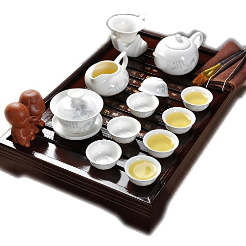 ufengkeBest Chinese People Ceramic Kung Fu Tea Set Tea Service With Tea Tray