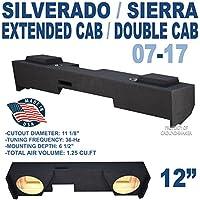 Chevy Silverado & Gmc Sierra Extended cab / Double-Cab 2007-2016 sub box