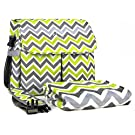 berlando - Signature Edition - Chevron Diaper Bag + Matching Baby Blanket, Easy Carry, Stylish, Multi-pocket, Messenger Bag, #1 Ranked Baby Gift Set & Baby Diaper Bag