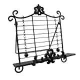 Metal Cookbook Stands Wrought Iron Fleur De Lis Cookbook Holder Easel Stand 13 X 14 X 6 Inches Gray