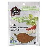 Club House, Quality Natural Herbs & Spices, Organic Chili Powder, 31g