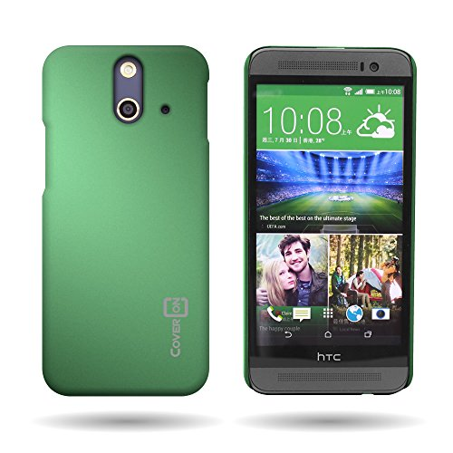 HTC One (E8) Case [Dark Green] CoverON 1pc Thin Hard Rubber Protective Phone Cover for HTC One (E8) (One Case Htc Green E8)