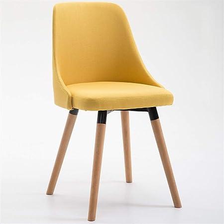 Sedie in legno massello Sedie da cucina in legno Tessuto di