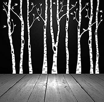 Birch Tree Wall Decal, Birch Tree Decal, Aspen Tree Decal, Birch Tree Wall