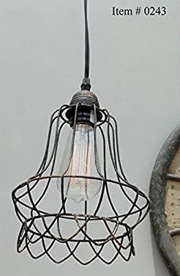 Cage Wire Steel Antqiue Replica Factory Industrial Pendant Light Chandeliers Lace Skirt