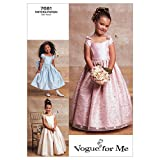 Vogue Patterns V7681 Girls' Lined Evening Or Lower Calf Length Dress, Size 6-7-8