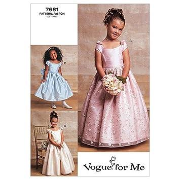 Vogue V7681 VGE (6 7 8) Schnittmuster zum Nähen, Elegant ...