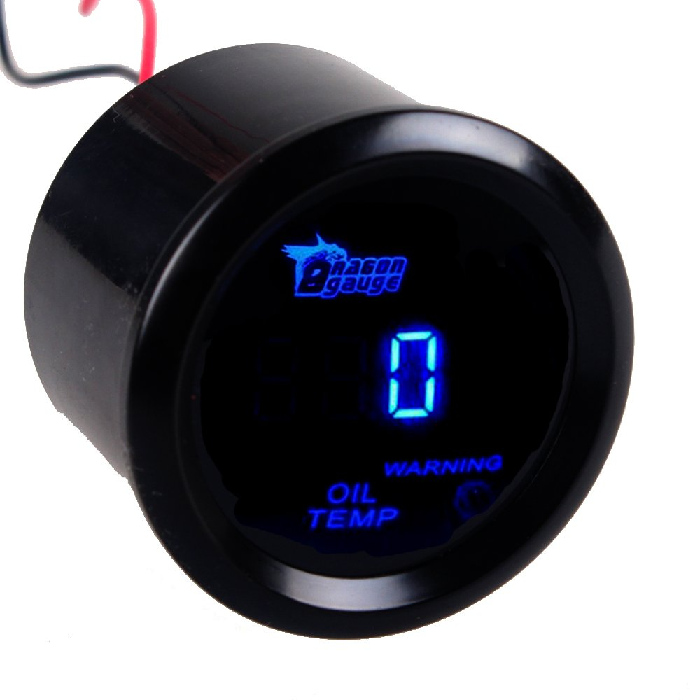 Etopars™ 2' 52mm Black Car Auto Digital Blue LED Light Oil Press Pressure LED Gauge Meter