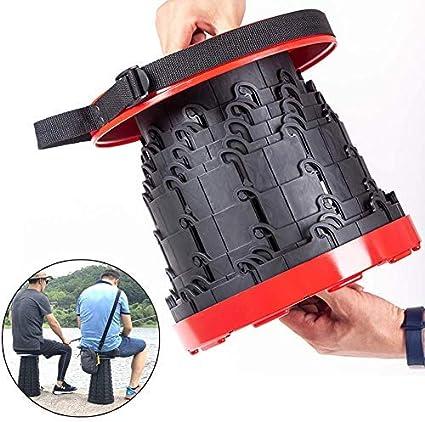 Alomejor Tabouret Pliant Super Strong Portable Pliant Tabouret Robuste Chaise ext/érieure Pliante pour la p/êche en Plein air