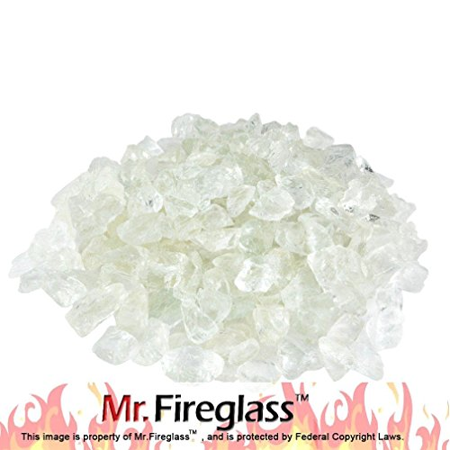 Flame Glass Fireplace (Mr. Fireglass Recycled Fire Glass for Natural or Propane Fire Pit Fireplace Gas Log Sets, 10 lb, Aqua)