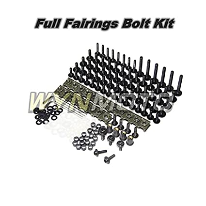 Blue WYNMOTO US Stock Full Motorcycle Fairing Bolt Kit For Yamaha R1 02 03 04 05 06 YZF1000 R1 2002 2003 2004 2005 2006 New Body Screws Aluminum Fasteners Hardware Clips