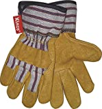 KINCO 1917-Y Child's Grain Pigskin Leather Glove with Safety Cuff, Ages 7-12, Youth, Golden