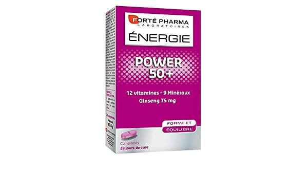 Amazon.com: Forté Pharma Energy Power 50+ 28 Tablets: Health & Personal Care