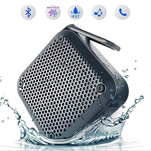 Waterproof Wireless Bluetooth Speaker Portable - LEZII (2018 New) Waterproof Dustproof Shockproof Wireless Shower Speaker 8 Hours Playtime Built-in Mic AUX TF Card Input Kayaking