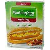 MorningStar Farms Veggie Dogs, 8.4 Ounce -- 8 per case.