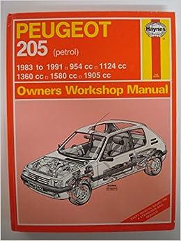 Peugeot 205 Owners Workshop Manual: A. K. Legg: 9781850107576: Amazon.com: Books