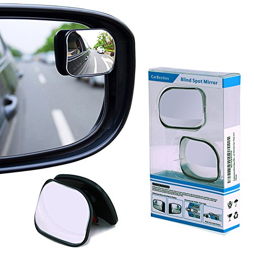 Carbesties Blind Spot Mirror, HD Convex Rear View Mirror Fit for All Universal Vehicles Car, Pack of 2 (Mirror Universal Fit)