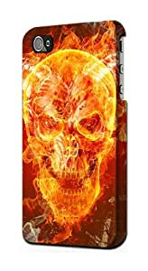 S0549 Skull Burn Case Cover for Iphone 4 4s