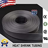 Wire Conduit 3'' Inch Black Polyolefin 2:1 Heat Shrink Tubing Cable Wire Protector 82Ft. Roll
