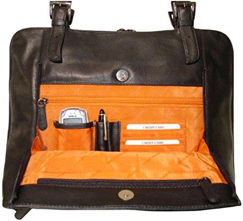 JOSYBAG LEDER Arbeitstasche GLASGOW schwarz Leitzordner Größe Tasche Arbeitstasche Aktentasche Reise Shopper