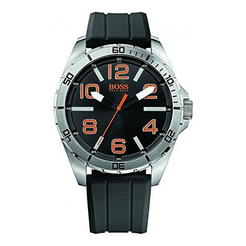 BOSS Orange Men's 1512943 Big Time Analog Display Quartz Black Watch by HUGO BOSS
