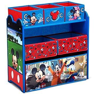 Delta Children Design & Store 6 Bin Toy Storage Organizer, Disney , Mickey Mouse Hot Dog Hill (TB84721MM-1054)