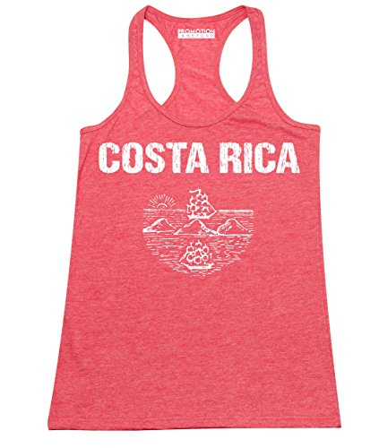 Promotion & Beyond Choose Your Country Flag Costa Rica Women's Tank Top, M, H. Red