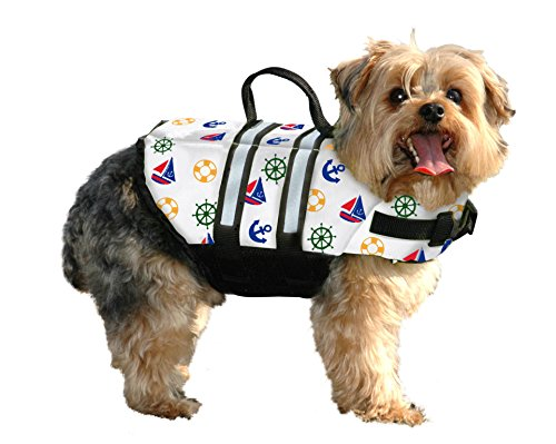 Fido Pet Products Paws Aboard Doggy Life Jacket, X-Small, Nautical