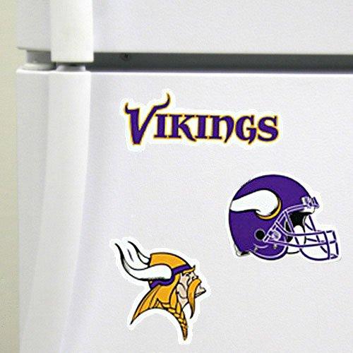 Minnesota Vikings 3-Pack Magnet Set