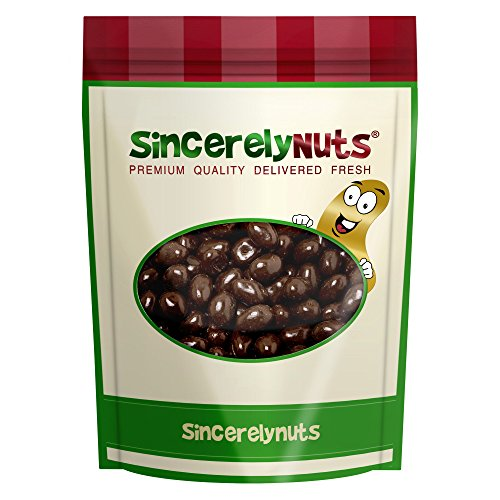 Sincerely Nuts Dark Chocolate Pistachios- Two Lb. Bag - Scrumptious To The Core - Insanely Fresh, Full of Fiber and Minerals - 100% Kosher Certified!