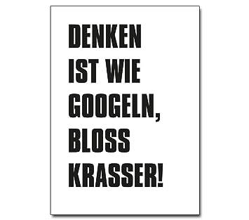 Typografie Poster Fur Buro Denken Ist Wie Googeln Spruche