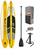"Z-Ray 12'6"" Racing SUP Stand Up Paddle Board Package w/ Pump, Paddle and Travel Backpack, 6"" Thick"
