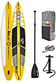 "Z-Ray 12'6"" Racing SUP Stand Up Paddle Board Package w/Pump, Paddle and Travel Backpack, 6"" Thick"