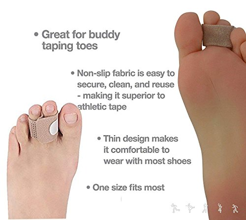 Bunion Corrector and Bunion Care Kit for Tailors Bunion, Hallux Valgus, Big Toe Joint, Hammer Toe, Toe Separators Spacers Straighteners Splint,Toe Straightener, Broken Toe Wraps (Beige) by Askilt (Image #5)