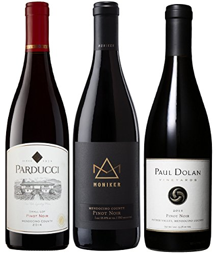 Mendocino Wine Company Pinot Noir Tasting Flight Wine Mixed Pack, 3 X 750mL