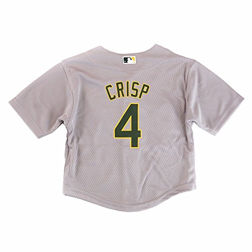 Coco Crisp Oakland Athletic MLB Majestic Infant's Grey Cool Base Road Jersey (24M) (Base Cool Jersey Road)