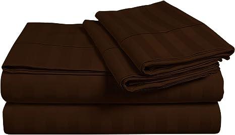 Homespell Luxor - Juego de sábanas de algodón Egipcio de 800 Hilos ...