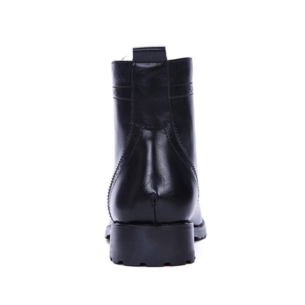 Herren Stiefeletten Lace up Anti-Rutsch Soft PU Leder High Top Top Top Oxford Schuhe (Farbe   Schwarz, Größe   42 EU) (Farbe   Schwarz, Größe   42 EU) 903ca9