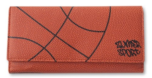 basketball-womens-wallet-textured-basketball-theme-tri-fold-checkbook-cover