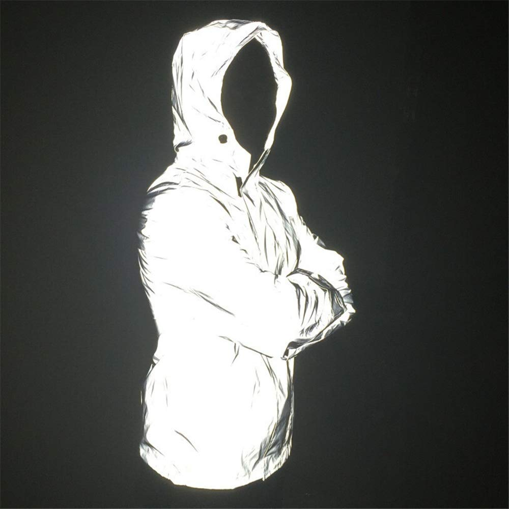 Zhongsufei Arbeitsschutzweste Reflektierende Wasserdichte Arbeitsjacke mit Kapuze für Männer M-4XL Reflektierende Streifen Kleidung (Größe   X-Large)